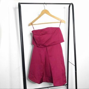 KEEPSAKE the Label Dresses - NWT Keepsake Keep Watch Wine Red Strapless Dress